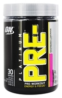 Image of Optimum Nutrition - Platinum Pre-Workout Energy & Focus Raspberry Lemonade - 240 Grams
