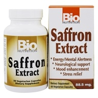 Image of Bio Nutrition - Saffron Extract 88.5 mg. - 50 Vegetarian Capsules