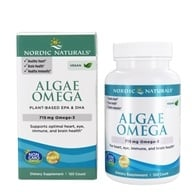 Image of Nordic Naturals - Algae Omega Vegetarian Omega-3 - 120 Softgels