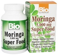 Image of Bio Nutrition - Moringa Super Food (Moringa oleifera) 5000 mg. - 60 Vegetarian Capsules