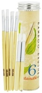 Image of Glob - Bamboo Brushes Tube Set - 6 Sustainable Brushes - CLEARANCE PRICED