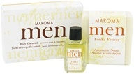 Image of Maroma - Men's Aromatic Soap and Fragrance Oil Gift Set Tonka Vetiver