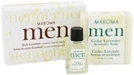 Maroma - Men's Aromatic Soap and Fragrance Oil Gift Set Cedar Lavender (623206373022)