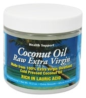 Health Support - Coconut Oil Raw Extra Virgin - 15.3 oz. by Health Support