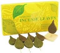 Maroma - Incense Leaves with Holder Lemongrass Lavender & Rosemary - 4 Leaves