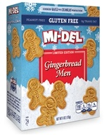 Mi-Del - All Natural Gingerbread Men Cookies Gluten-Free - 6 oz. CLEARANCE PRICED (030684092589)