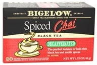 Bigelow Tea - Chai Tea Decaffeinated Spiced - 20 Tea Bags (072310042612)