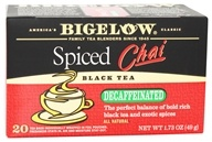 Bigelow Tea - Chai Tea Decaffeinated Spiced - 20 Tea Bags - $3.19