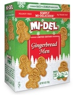 Mi-Del - All Natural Gingerbread Men Cookies - 6 oz. CLEARANCE PRICED (030684113833)