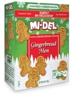 Mi-Del - All Natural Gingerbread Men Cookies - 6 oz. CLEARANCE PRICED - $1.99