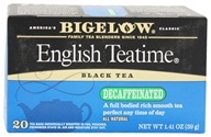 Bigelow Tea - Black Tea Decaffeinated English Tea Time - 20 Tea Bags (072310042773)
