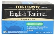 Image of Bigelow Tea - Black Tea Decaffeinated English Tea Time - 20 Tea Bags