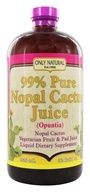 Image of Only Natural - 99% Pure Nopal Cactus Juice (Opuntia) - 32 oz.