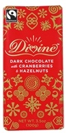 Divine - Dark Chocolate Bar with Hazelnuts and Cranberries - 3.5 oz.