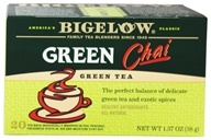 Bigelow Tea - Green Tea Chai - 20 Tea Bags (072310008380)