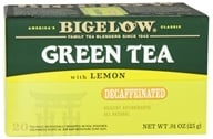 Bigelow Tea - Green Tea Decaffeinated With Lemon - 20 Tea Bags