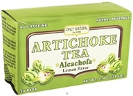 Only Natural - Artichoke Tea Alcachofa Caffeine Free Lemon Flavor - 20 Tea Bags