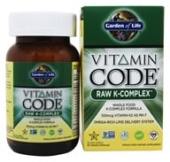 Garden of Life - Vitamin Code Raw K-Complex - 60 Vegetarian Capsules by Garden of Life