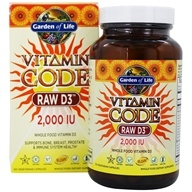 Garden of Life - Vitamin Code Raw D3 2000 IU - 120 Vegetarian Capsules by Garden of Life