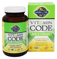 Garden of Life - Vitamin Code Raw B-Complex - 120 Vegetarian Capsules, from category: Vitamins & Minerals