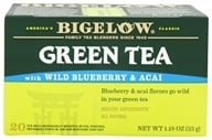 Image of Bigelow Tea - Green Tea Wild Blueberry and Acai - 20 Tea Bags (Formerly Blueberry)