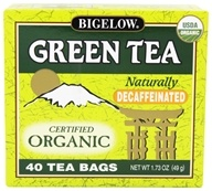 Bigelow Tea - Green Tea Certified Organic Decaffeinated - 40 Tea Bags (072310072480)