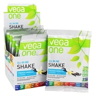 Vega - All-in-One Nutritional Shake French Vanilla - 10 x 1.3 oz.(37.6 g) Packets - $31.89