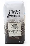 Image of Jim's Organic Coffee - Whole Bean Coffee Sweet Love Blend - 12 oz.