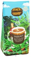 Jim's Organic Coffee - Whole Bean Coffee Hazelnut - 12 oz.
