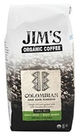 Jim's Organic Coffee - Whole Bean Coffee Colombia - 12 oz., from category: Health Foods