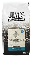 Jim's Organic Coffee - Whole Bean Coffee French Roast Decaffeinated - 11 oz.