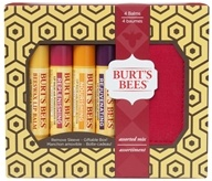 Burt's Bees - Lip Balm Holiday Gift Set Assorted Mix- 4 Tubes with Holder