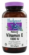 Image of Bluebonnet Nutrition - Natural Vitamin E Mixed Tocopherols 1000 IU - 100 Softgels