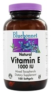 Bluebonnet Nutrition - Natural Vitamin E Mixed Tocopherols 1000 IU - 100 Softgels, from category: Vitamins & Minerals