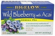 Bigelow Tea - Herb Tea Wild Blueberry With Acai - 20 Tea Bags (072310010543)