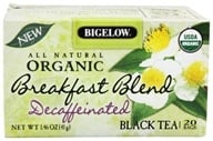 Bigelow Tea - All Natural Organic Black Tea Decaffeinated Breakfast Blend - 20 Tea Bags