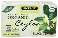 Bigelow Tea - All Natural Organic Black Tea Ceylon - 20 Tea Bags (072310070011)