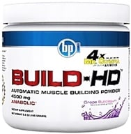 Image of BPI Sports - Build-HD Automatic Muscle Building Powder Grape Bubblegum - 30 Servings 4500 mg. - 5.8 oz.