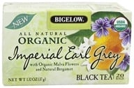 Bigelow Tea - All Natural Organic Black Tea Imperial Earl Grey - 20 Tea Bags (072310070004)