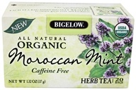 Bigelow Tea - All Natural Organic Herb Tea Caffeine Free Moroccan Mint - 20 Tea Bags