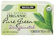 Bigelow Tea - All Natural Organic Green Tea Decaffeinated Pure Green - 20 Tea Bags