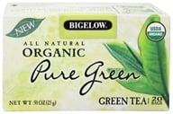 Bigelow Tea - All Natural Organic Green Tea Pure Green - 20 Tea Bags (072310070035)