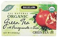 Bigelow Tea - All Natural Organic Green Tea With Pomegranate & Acai - 20 Tea Bags (072310070059)