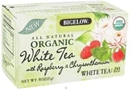 Image of Bigelow Tea - All Natural Organic White Tea With Raspberry & Chrysanthemum - 20 Tea Bags