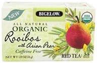 Bigelow Tea - All Natural Organic Red Tea Rooibos With Asian Pear - 20 Tea Bags (072310070066)