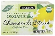 Image of Bigelow Tea - All Natural Organic Herb Tea Caffeine Free Chamomile Citrus - 20 Tea Bags