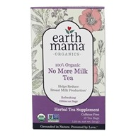 Earth Mama Angel Baby - Organic No More Milk Tea Caffeine Free Refreshing Hibiscus Sage - 16 Tea Bags (859220010180)