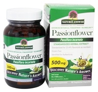 Nature's Answer - Passionflower Flowering Tops Extract Standardized 500 mg. - 60 Vegetarian Capsules (083000164217)