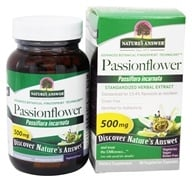 Nature's Answer - Passionflower Flowering Tops Extract Standardized 500 mg. - 60 Vegetarian Capsules, from category: Herbs