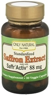 Only Natural - Standardized Saffron Extract with Saffr'Activ 88.5 mg. - 30 Vegetarian Capsules (727413001249)